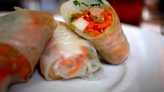 coast seafood - shrimp & crab summer rolls by foodiebuddha