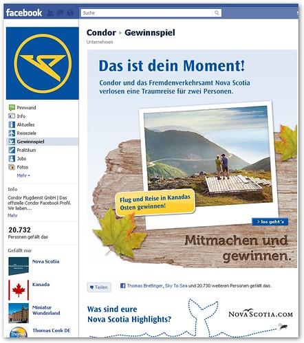 Condor Gewinnspiel bei facebook