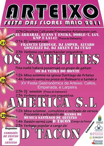 Arteixo 2011 - Festa das Flores - cartel