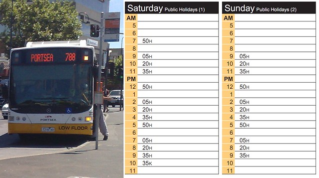 POTD: Mornington Peninsula: hopelessly infrequent buses, or ever-growing traffic congestion - your choice