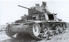Knocked out/abandoned M13/40 tank An Italian M13/40 tank abandoned in North Africa