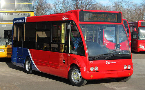 Go North East: 0706 WK58EAE Optare Solo