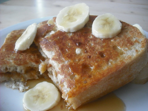 Peanut Butter and Banana-Stuffed French Toast