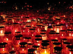 November 1 (natasa10) Tags: light red night candles slovenia ljubljana slovenija 1november no thedayofthedead nationaldayofremembrance ale danmrtvih rdee svee