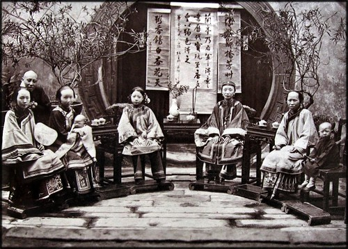 Chinese Family [c1875] Attribution Unk [RESTORED]