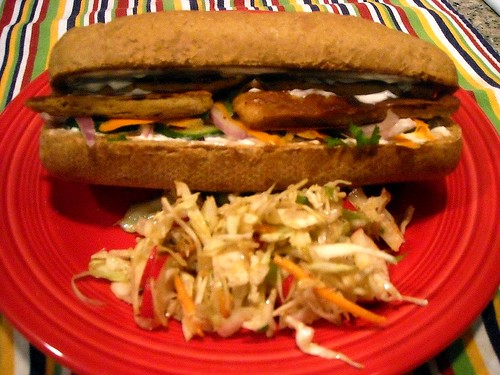 Vietnamese Po'boy with Asian Slaw