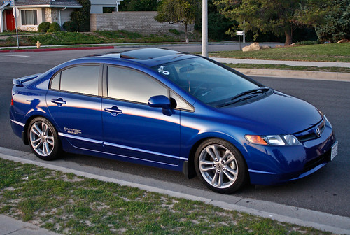 Bump To The Top For A 2008 Honda Civic Si Beautiful Fiji Blue In So Cal .