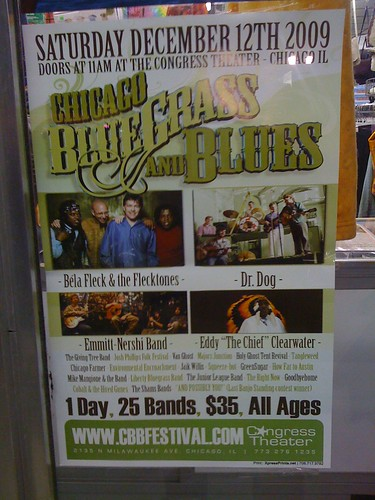 2009 Chicago Bluegrass and Blues Festival poster