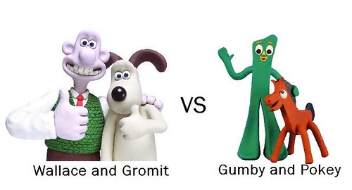 Wallace and Gromit VS Gumby and Pokey