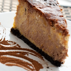 Pumpkin Cheesecake with Nutella