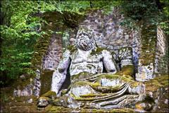 neptune (heavenuphere) Tags: park wood italy sculpture parco monster italia sacred neptune lazio bomarzo bosco sacro mostri parcodeimostri vicinoorsini 1750mm parkofmonsters