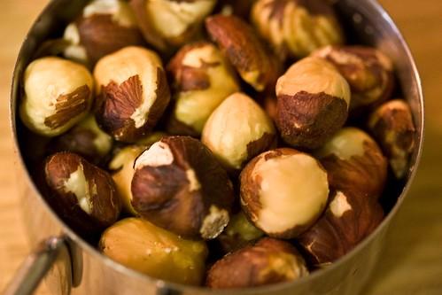 toasted hazelnuts, semi-husked