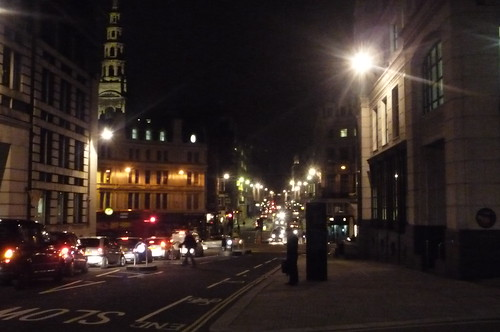 St Brides & Fleet Street from Ludgate Hill