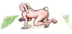 兎 (Yamatarosu) Tags: rabbit ass illustration erotic avantgarde イラスト 尻 うさぎ エロティック 中性 うさちゃん アバンギャルド