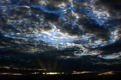 Sunbeams (Crones) Tags: sunset sun clouds canon czech prague praha czechrepublic 450d