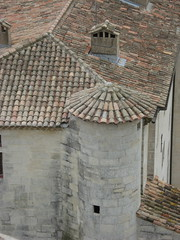 Roofs in Aigues Mortes (Paul J. Morris) Tags: france tdwg2009 architecture aiguesmortes camargue dc:rightsholder=pauljmorris dc:creator=pauljmorris
