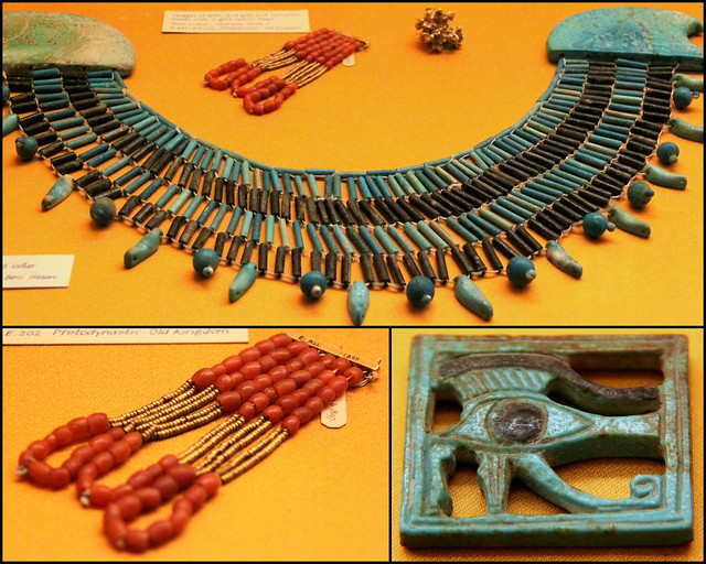 Egyptian jewellery and Eye-of-Horus pendant