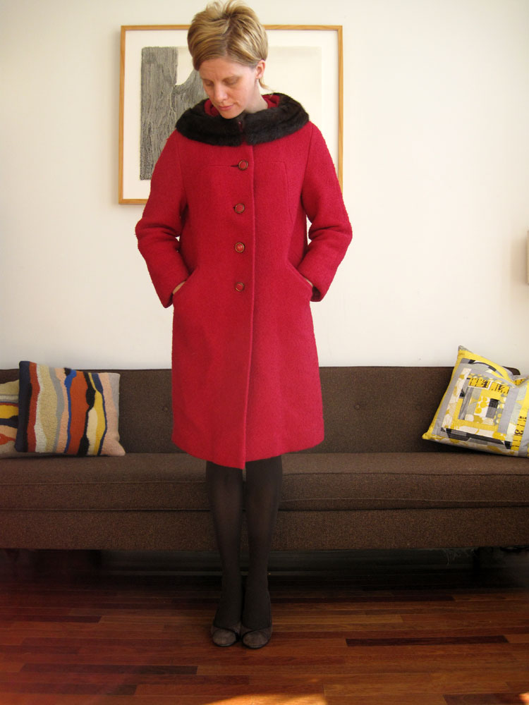 the 1950s pink coat