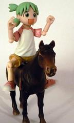 aafad-ac 9/25 horsing around (lamont_cranston) Tags: horse toy toys actionfigure plastic adventcalendar picnik kaiyodo yotsuba revoltech kiyohikoazuma enokitomohide anactionfigureaday aafad yotubasutazio