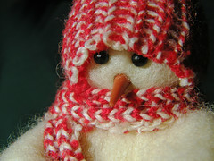 ** Baby, It's Cold Outside ** (njk1951) Tags: snow cold weather snowman freezing redhat babyitscoldoutside winterweather brrrrr carrotnose