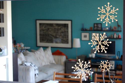 snowflakes, mirror