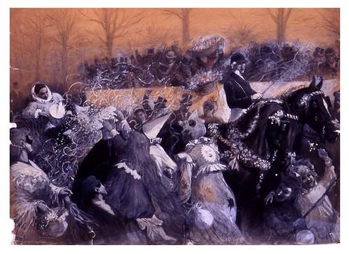I.E.A. 22 FEBRERO 1904 - 1.º N.º VII. Págs. 104-105. CARNAVAL- DIBUJO DE DANIEL PRESA