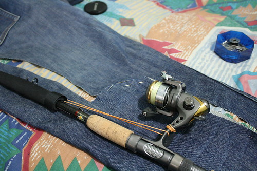 Project Upcycle: Old Jeans to Fishing Rod Cover