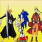 Sonic,Naruto y Ichigo