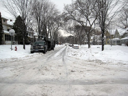 Pleasant Ave Pre-Plowing
