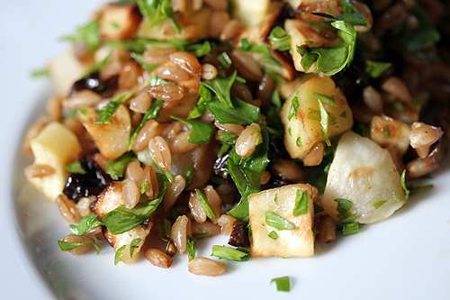 Roasted Root Vegetable & Wheat Berry Salad Recipe — Dishmaps