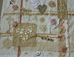 Sampler 01 (ivoryblushroses) Tags: collage sampler objects unfinished stitching projects handwork ufos