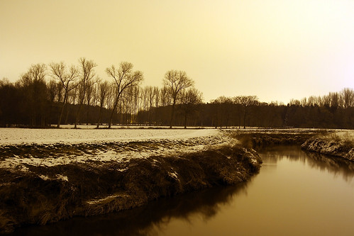 Long Exposure - Demer winterlandschap