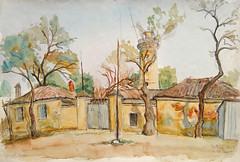 Peisaj la Sulina_acuarela_Muzeul de Arta Tulcea