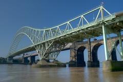 Runcorn Bridge (Jez Finnan) Tags: nikond70 runcorn merseyside widnes rivermersey runcornbridge hdrprocessed