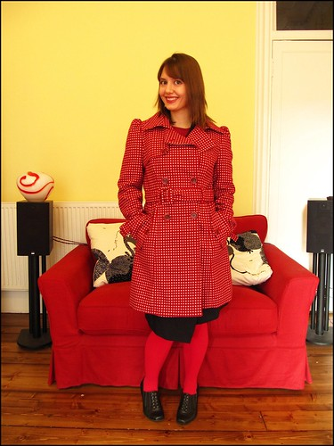16.1.10: polka dot winter coat