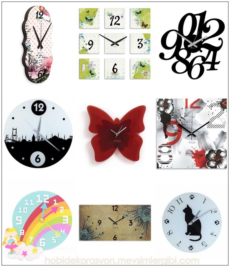 modern ve dekoratif duvar saatleri modelleri