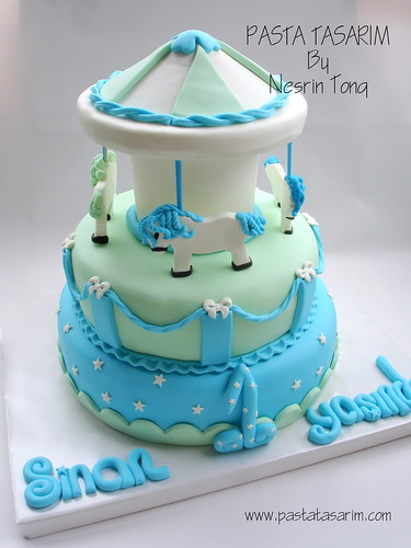 CAROUSELL CAKE - 1ST BIRTHDAY SINAN'S