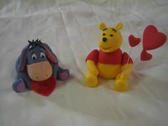 Eeyore and Winnie The Pooh Character (Linzi's Cakes) Tags: cakes pooh characters 100 winnie eeyore edible fondant linzis