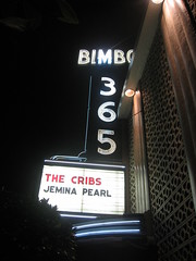 The Cribs, Bimbo's 365 Club, 01-27-10