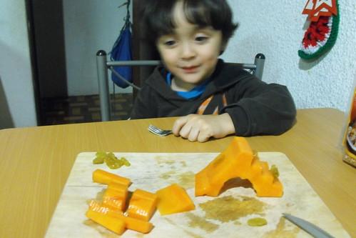 Resbaladilla de papaya