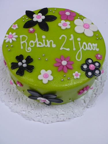 Flower Birthday Cake For A Hip Young Lady