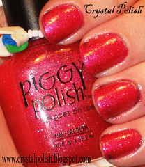 Piggy Polish Beach Break (CrystalPolish) Tags: pink glitter beachbreak piggypolish