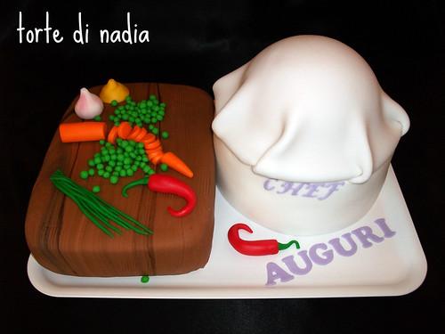 chef's hat cake , torta per cuochi