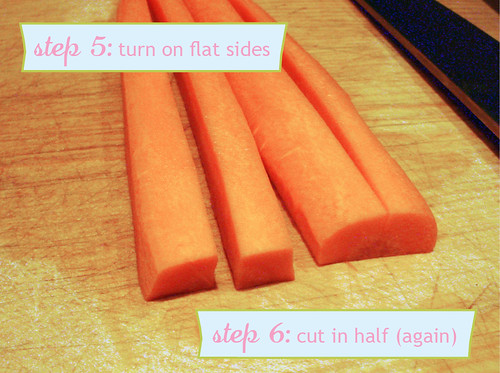 How to Chop Carrots - steps 5-6