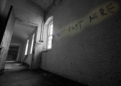 St Johns Asylum - NOT PAST HERE (ricklus) Tags: urban st hospital nikon ruin sigma lincolnshire heath lincoln 1020mm exploration asylum derelict johns urbex sigma1020mm mids d40 urbexing ricklus bbcheadroom bracerbridge midsurbexing soundsmental