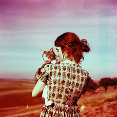 Lauren Randolph (laurenlemon) Tags: california 6x6 film me rolleiflex cat mediumformat crossprocessed colorful crossprocess slidefilm expired milli 365outtake december09 artlibres photopromagazine laurenrandolph laurenlemon wwwphotolaurencom