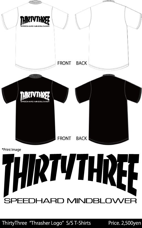 "thirtythree ""Thrasher Logo Tee"""