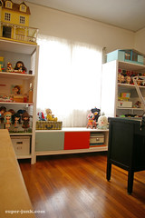 my room, clean (Super*Junk) Tags: ikea studio toys office dolls room crafts hobby workspace ivar hack shelves windowseat