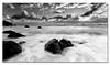 After the Showers ([ Kane ]) Tags: ocean morning blackandwhite water clouds dawn blackwhite rocks waves nsw qld kane 1020 gledhill 50d kanegledhill kanegledhillphotography