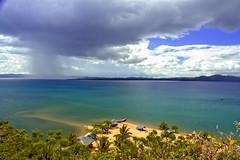 Sta Rita Island Beach Resort (Lenareh) Tags: sea beach rain clouds philippines resort bicol rainclouds camarinessur delgallego lenareh staritaislandbeachresort ragaygulf